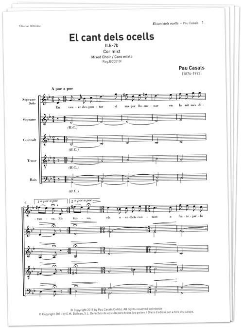 El cant dels ocells (x20) - Editorial de Música Boileau